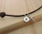 Personalized Boys Cross Necklace Male Jewelry Mens Fathers Day Present Gift for your Boyfriend Teenager Necklace for Him Christian