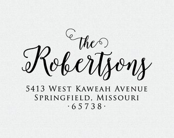Custom Address Stamp, Self Inking Stamp, Return Address Stamp, Custom Wedding Gift, Custom Rubber Stamp,Personalized Rubber Stamp (T234)