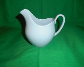 One (1), 8 oz Creamer, from Johnson Bros., in the Blue Cloud Pattern.