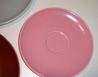 Vintage China Plates Universal Ballerina Pink Saucers. Set of two