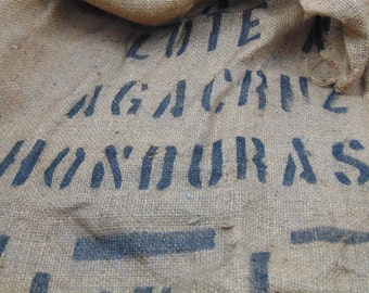 Old Burlap Bag Front