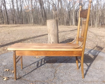 Repurposed Handmade Antique Chair Bench