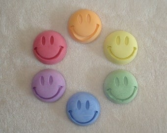 Smiley Face Sidewalk Chalk - Set of 6