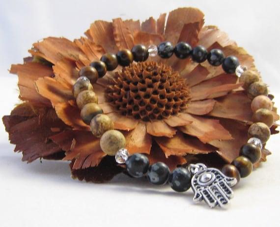 Safe Travel  Bracelet, using Genuine Semi Precious Gemstones