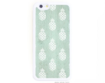 Rubber iPhone 6 Case. iPhone 6 Cases. Pineapple Pattern Mint. Phone Case. iPhone Case. Phone Cases. Rubber Case for iPhone 6.
