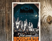 HOGSMEADE Village Harry Potter Movie Poster Travel Poster Vintage Print Wall Art Christmas House Warming Gift Children Room decor Geekery