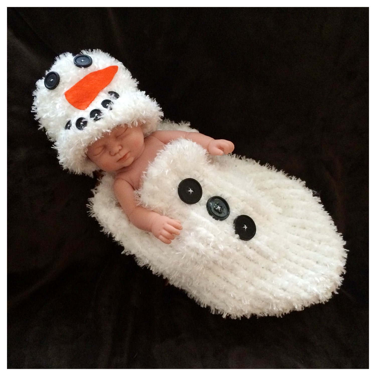 Fuzzy Snowman Infant Cocoon Set Olaf Frosty Baby Shower