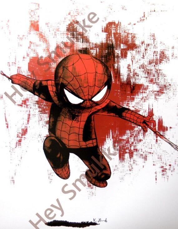 Items Similar To Spiderman Wall Art Baby Spiderman