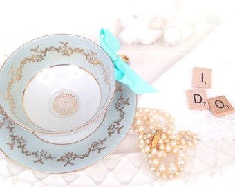 Vintage Bavaria Germany Tea Cup and Saucer Duo Tea Party Wedding Gift Inspiration