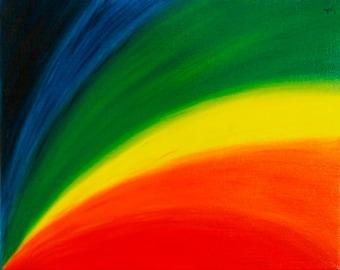 Rainbow....as i see it. Original Oil Painting