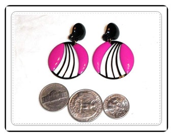 Pinkish Purple Earrings - Clipon Vintage - Pretty n Pinkish   E251a-031414002
