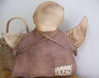 Primitive Grungy Angel Hanger/Door Greeter Prim Decor