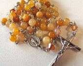 November/Citrine Orange Glass Rosary