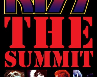 KISS The Summit / Sept 1, 1977 Stand-Up Display - Kiss Alive II - Collectibles Gift Idea Gene Simmons Paul Stanley Ace Frehley Peter Criss