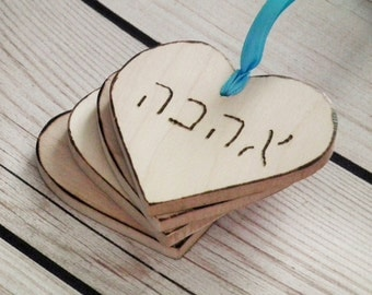"""2"""" wooden heart tags 
