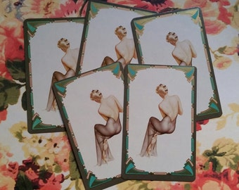 Vintage Vargas Pin Up Playing Cards Blonde Lingerie