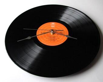 BOOKER T Wall Clock Made from an original recycled LP album Evergreen Wall clock soul music orange black funk disco green onions sax vinyl