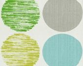 Home Decor Drapery Bedding Upholstery Fabric Sweet Spot Marine Dot Green Gray Aqua Blue Turquoise