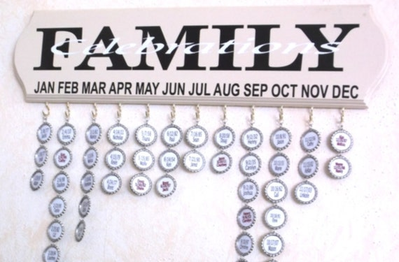 family celebration board, birthday board, family dates, family birthday board, anniversary board, family calendar board