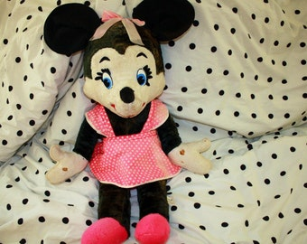 Now on Sale! Scarce Extra Large Vintage Minnie Mouse, California Stuffed Toys, 1963