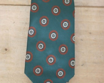 vintage forest green and rust tie