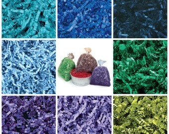 Crinkle Cut Paper Shred- Basket Filler- Royal Blue,Light Blue,Navy Blue,Green,Lime,Green Tea, Purple, Lavender