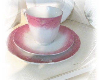 Vintage Shabby Pink A Licious Teacup & Saucer Set