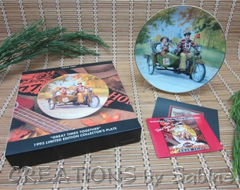 Harley-Davidson Plate Great Times Together Road Trip Ben Otero Sidecar Campus College Go State Alma Mater Graduation FREE SHIPPING (318)