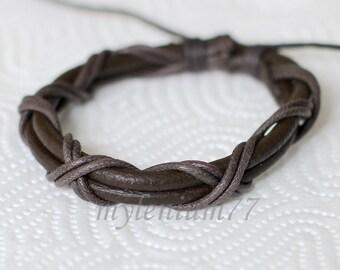 497 Men bracelet Women bracelet Cords bracelet Ropes bracelet Leather bracelet Braided bracelet Woven bracelet Fashion bracelet