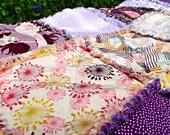 Rag Blanket for Adult Teen or Child - Purples