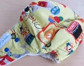 One Size Hybrid Fitted Cloth Diaper - At the Circus