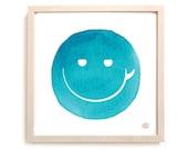 "Surfing Art Print ""Surf Smile"""