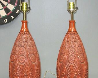 Pair of Mid Century Ceramic Lamps
