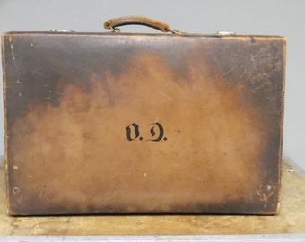 Antique English Traveling Dressing Suitcase