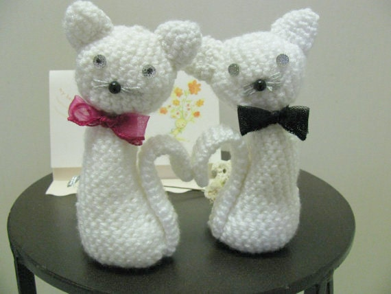 Items similar to Male and Female cat amigurumi, Two ...