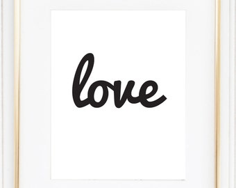 Love quote, wall quote, digital quote, love print, romantic art, love typography print, typography art, home decor, love sign, wall art.