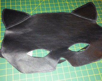 Black Leather Cat mask