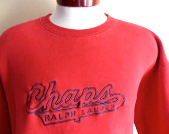 vintage 90's CRL Chaps Ralph Lauren embroidered spellout script designer logo r.