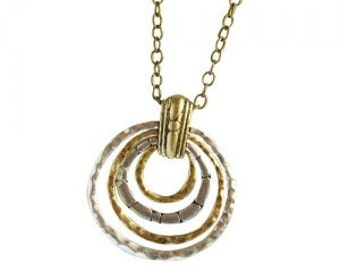Geometric Circles Pendant Necklace