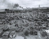 Vintage Seattle Hooverville Photo - Old Seattle Photo - Vintage Print - The Great Depression Photo Seattle - Herbert Hoover