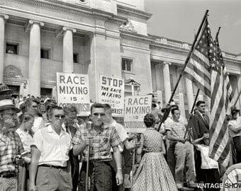 Little Rock Nine Civil Rights Protest 1959 Photo