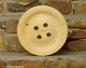 Giant 11 Inch Wooden Button -Huge Wood Button - Big Buttons