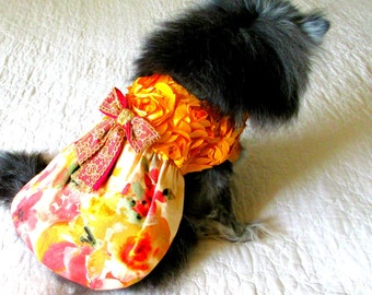 Dog Party Dress, Small Dog Party Dress, Dog Formal Clothes, Custom Small Sizes, Pomeranian Clothes