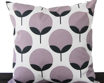 Throw pillow cover purple gray charcoal cushion cover pillow case Caroline