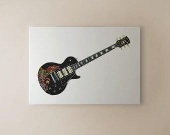 Keith Richards' Gibson Les Paul Custom Black Beauty CANVAS PRINT