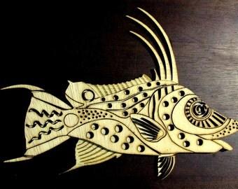 "Fish. Wall decoration. 20"""