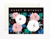 Peonies Birthday Card