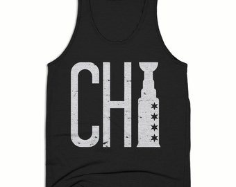 10% OFF SALE, Chicago Tank Top - Chicago Shirt - Chicago Blackhawks - Chitown shirts - Mens Tank Top - Triblend