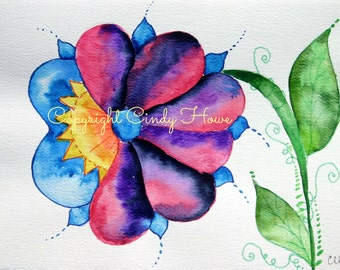 Digital art, digital download, flower, colorful flower, floral, flowers,  fantasy flower, digital download