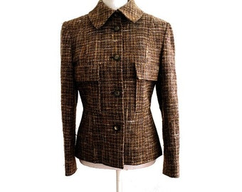 vintage GUY LAROCHE  tweed JACKET medium fr40 us12